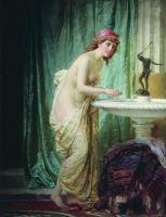 Дама за утренним туалетом