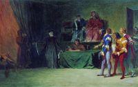 Мозаичисты перед судом трех в Венеции