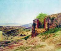 Пейзаж с развалинами