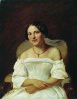 Портрет женщины в белом