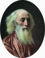Портрет старика в малиновой одежде