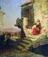Рим. Итальянский дворик