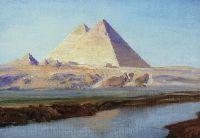 Большие пирамиды Хеопса и Хефрена
