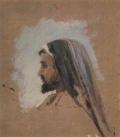 К.А.Коровин. Этюд головы Христа к картине На Тивериадском (Генисаретском) озере