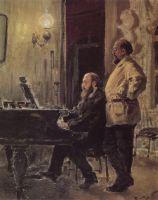 С.И.Мамонтов и П.А.Спиро у рояля