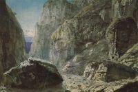Ущелье среди скалистых гор
