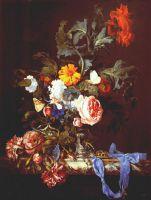 Ваза с цветами и карманные часы
