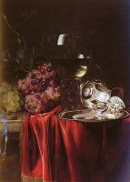 Натюрморт с виноградом, бокалом, кувшином и блюдом