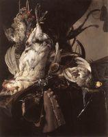 Натюрморт с убитыми птицами и охотничьим оружием