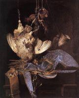 Натюрморт с охотничьим снаряжением  и убитыми птицами