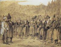 Представление начальству (Русский офицер и кавказцы)