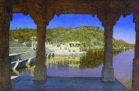 Раджнагар. Мраморная, украшенная барельефами набережная на озере в Удайпуре