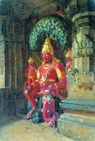 Статуя Вишну в храме Индры в Эллоре