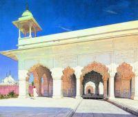 Тронный зал Великих моголов Шах-Джахана и Ауранг-Зеба в форте Дели