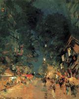 Ницца. Улица ночью