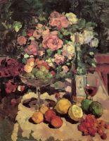 Розы, фрукты, вино