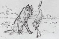 Волк и Журавль.