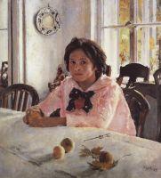 Девочка с персиками (Портрет В.С.Мамонтовой).