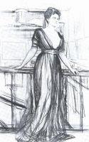 Набросок к портрету П.И.Щербатовой1.