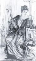 Набросок к портрету П.И.Щербатовой2.