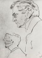 Портрет артиста В.И.Качалова.
