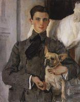 Портрет графа Ф.Ф.Сумарокова-Эльстон, впоследствии князя Юсупова, с собакой.