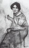 Портрет пианистки Ванды Ландовской.