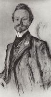 Портрет поэта К.Д.Бальмонта.