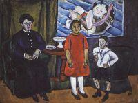 Семейный портрет (на фоне китайского панно).