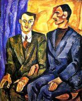 Портрет Ю.П.Денике (Юрьева) и А.Д.Покровского.