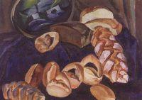 Хлебы на синем.