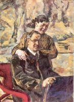 Автопортрет с женой.