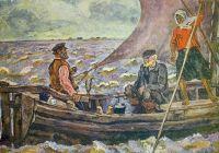 На Ильмень-озере.