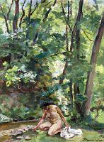 Женщина у ручья.