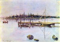 Озеро Имандра. Осмоление сетей.