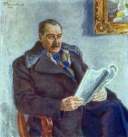 Портрет писателя Константина Андреевича Тренева.