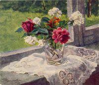 Розы у окна.
