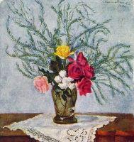 Розы и аспарагус.