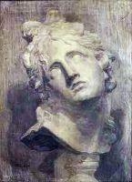 1902 Голова Аполлона. Б., уг., гр. к. 94,6х74,2