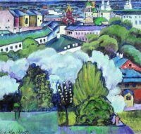1911 Городской пейзаж. Холст, масло. 93x96 ГРМ