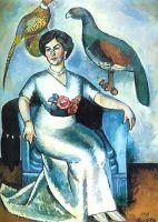 1911 Дама с фазанами. Холст, масло. 177х133 ГРМ