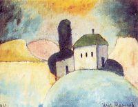 1911 Пейзаж с домиком.