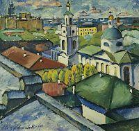 1912-13 Вид Москвы. Мясницкий район. Х., м. 92х97. Саратов