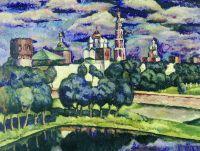 1912-13 Новодевичий монастырь. Х., м. 93.3x126 Волгоград