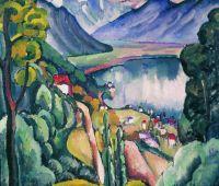 1914 Женевское озеро. Глион. Холст, масло. 102.5x116 ГТГ