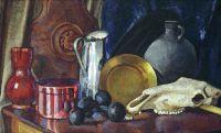 1914 Натюрморт с лошадиным черепом. Х., м. 89x142 ГРМ