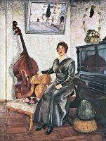 1915 Дама с контрабасом.