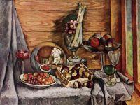 1915 Натюрморт с грибами. Холст, масло. 97х126. ГРМ