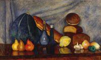 1915 Натюрморт с хлебами и тыквой. 71x120,5