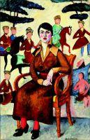 1915 Портрет дамы в кресле.